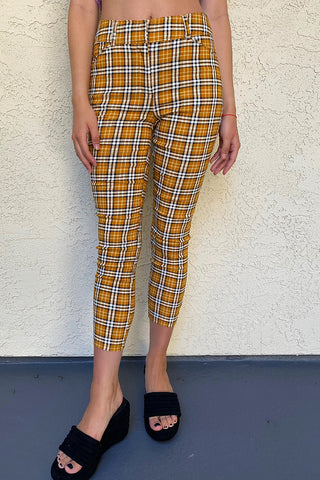 College Weekend Plaid Cropped Pants