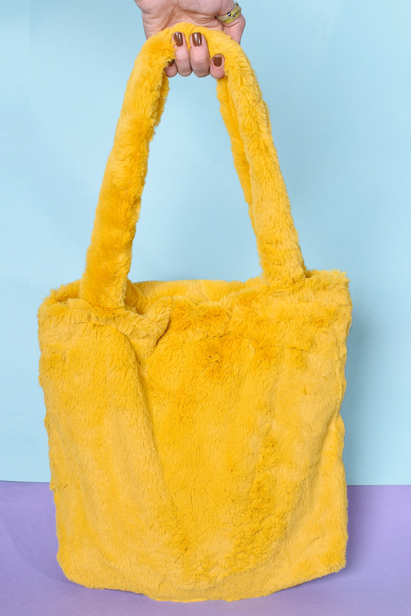 Take A Picture Furry Shoulder Bag - Marigold