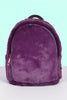 Be My Romeo Fuzzy Mini Backpack - Violet