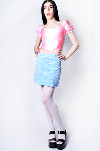 Pretty Pretty Princess Puff Sleeve Blouse - Bubblegum