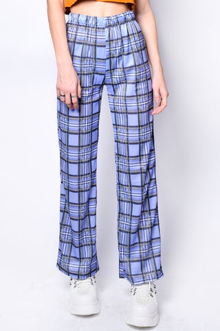 Julesy Periwinkle Plaid Pants