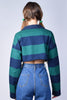 Quinn Cropped Striped Rugby Top