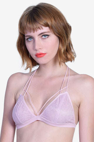 Strap Around Racerback Bra - Pink