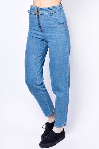 Riley High Rise Belted Denim