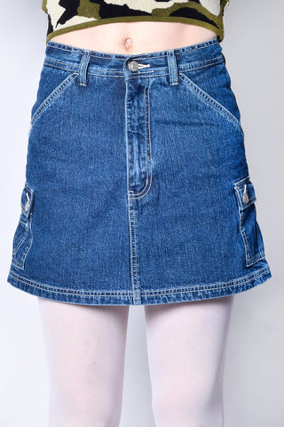 Two Sides Of The Story Deadstock Skort - Denim