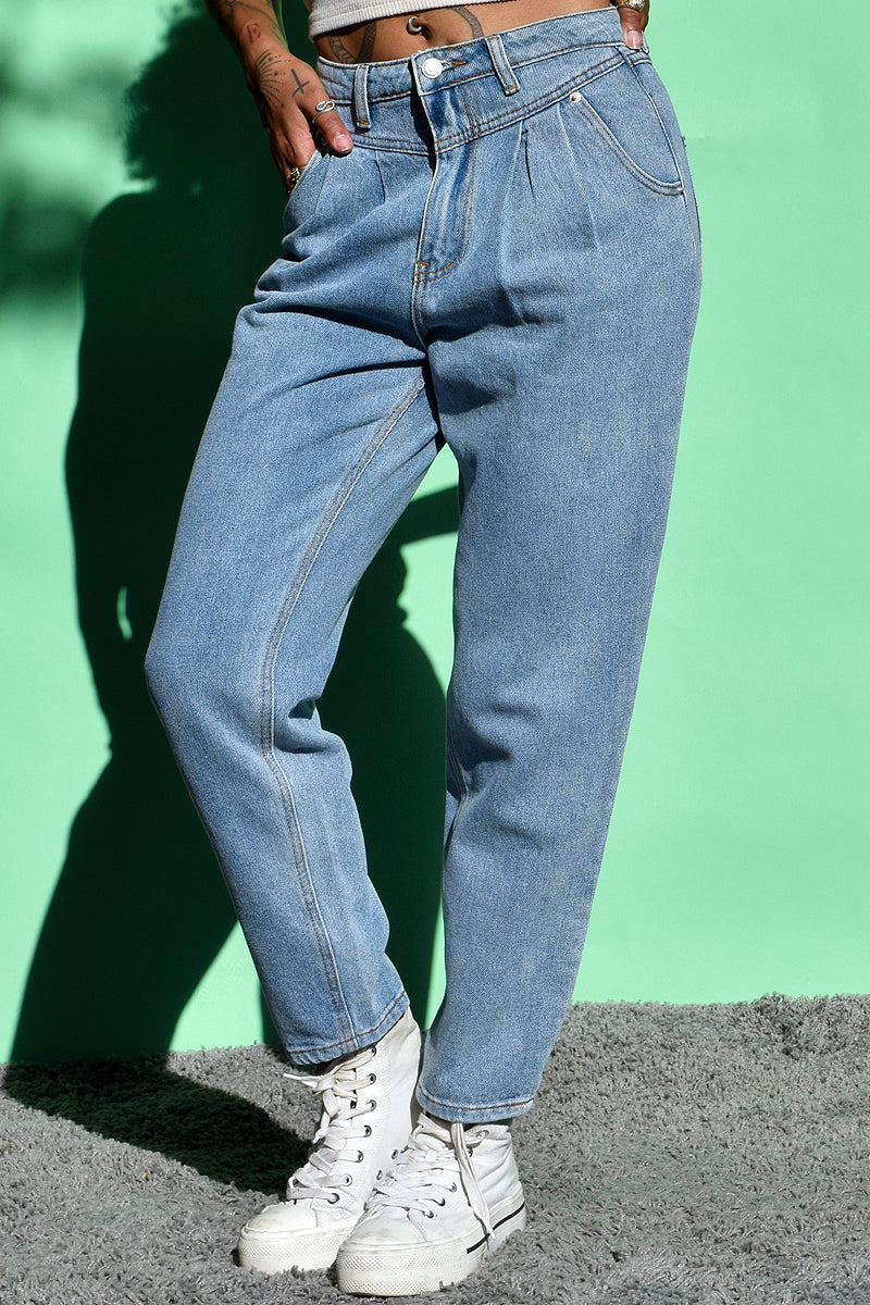 Tristessa Pleated Denim Pants