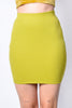 Gumdrop Ribbed Fitted Skirt