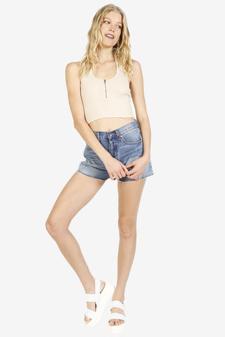 Cut Me Off High Waist Denim Shorts