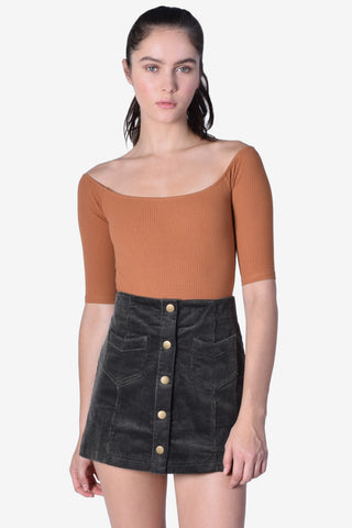 Pera Corduroy Mini Skirt