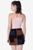 Carol Color Block Velvet Skirt