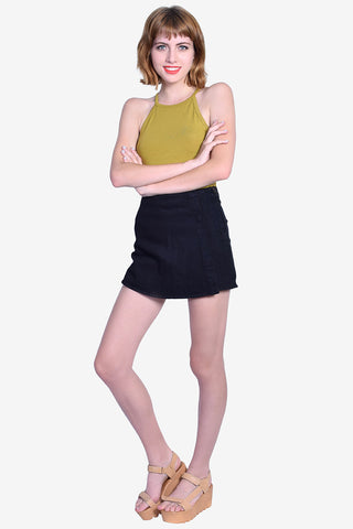 Tyler Denim Skort - Black