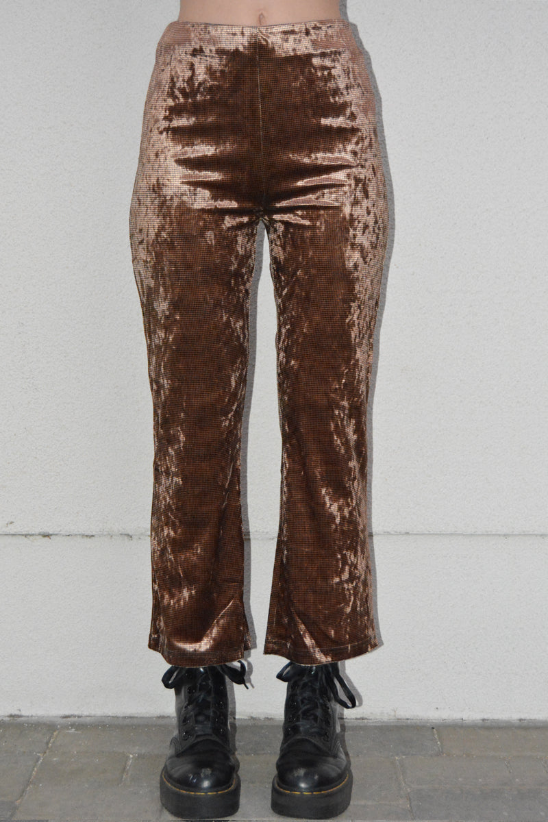 URL Velvet Printed Trousers