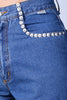 Deadstock Melissa Stud Detail Straight Leg Pants