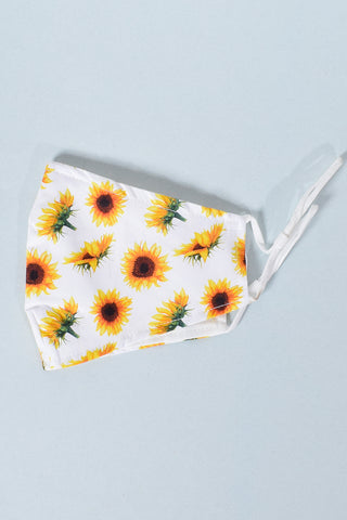 90s Reusable Face Mask - Sunflower