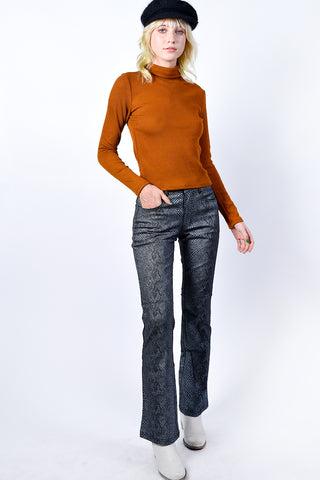 Corrigan Ribbed Turtleneck - Ginger