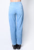 Tommy Wide Leg Corduroy Trousers - Sky Blue
