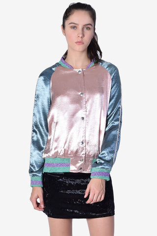 Sheen & Glitter Bomber Jacket
