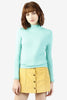 Mae Mock Neck Sweater - Mint