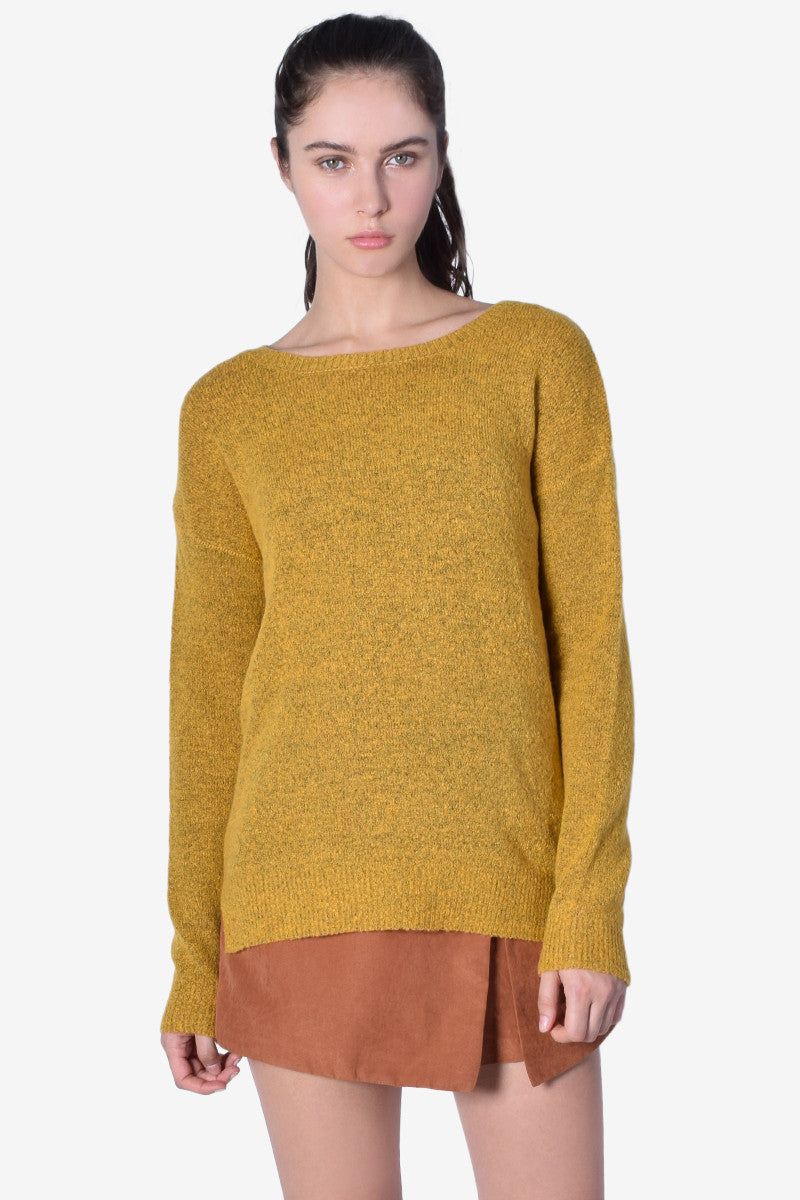 Cozy AF Knit Sweater - Mustard