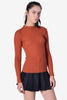 Candice Light Ribbed Sweater - Rust