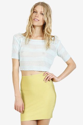 Tucker Off The Shoulder Cropped Sweater
