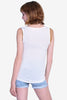 Henley Button Top Tank - Cream