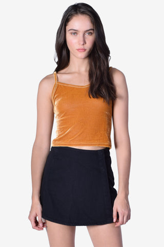 Golden Way Velvet Tank Top