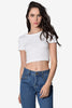 Downtown Basic Crop Tee - Cream