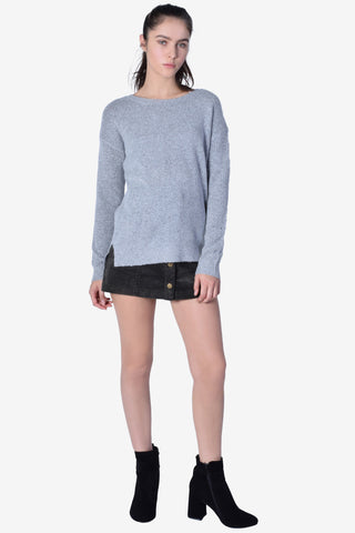 Cozy AF Knit Sweater - Grey
