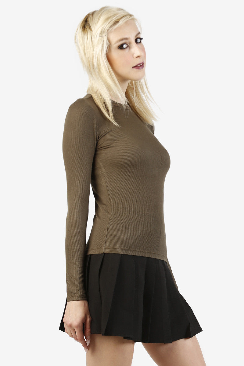 Mira Ribbed Essential Top