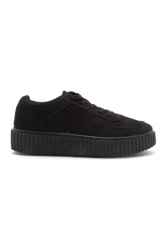 Platform Creeper Sneaker - Black