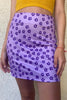 Baby Flowers Mini Skirt - Violet