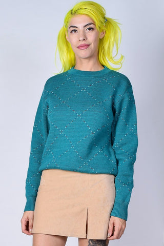 ECH Vintage Tiny Hearts Sweater