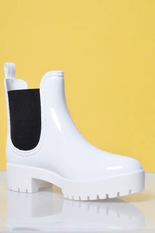 Ain't No Sunshine Rain Boot - White