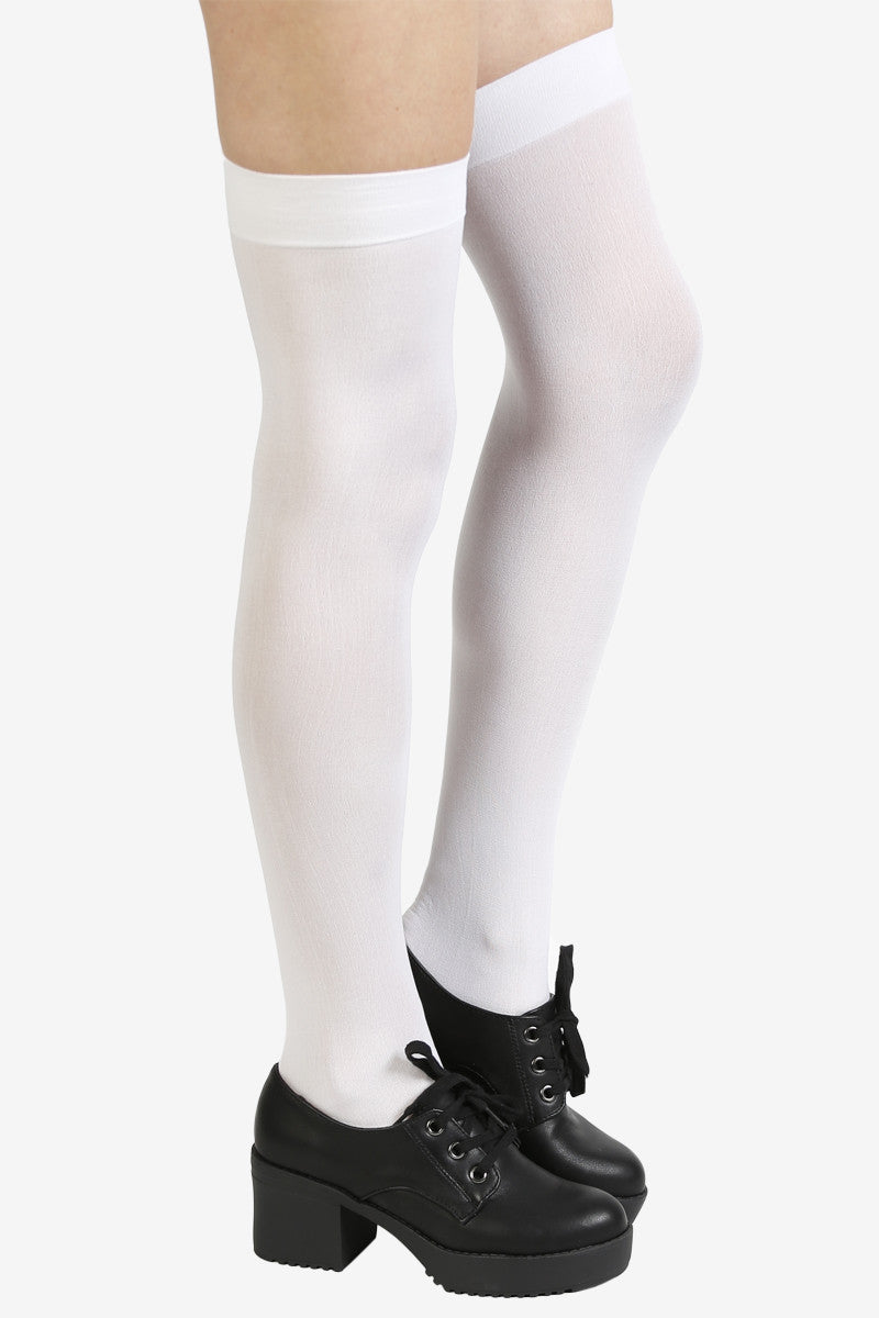 White Out Thigh Highs at EchoClubHouse side image