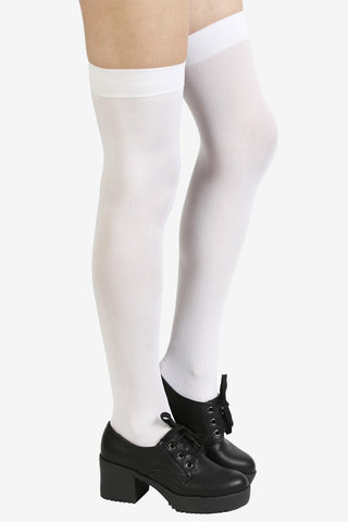 White Out Thigh Highs