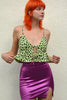 Full Stop Deadstock Sheen Mini Skirt