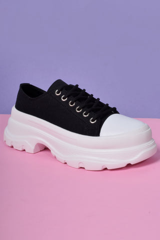 Down Low Platform Sneakers - Licorice