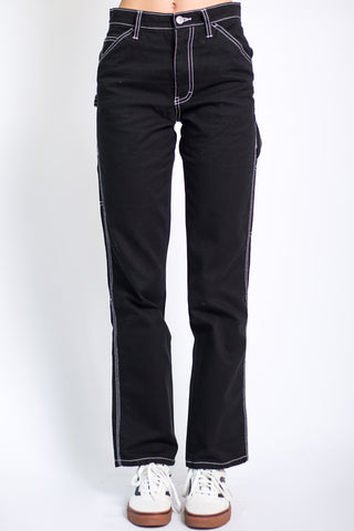 Black Relaxed Carpenter Pants by Dickies Girl