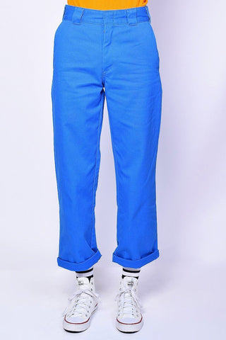 Blue Rolled Hem Work Pant by Dickies Girl