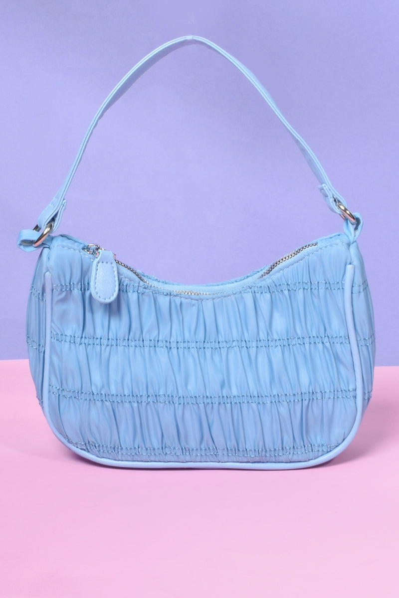 Most Girls Gathered Stitch Mini Bag - BB Blue
