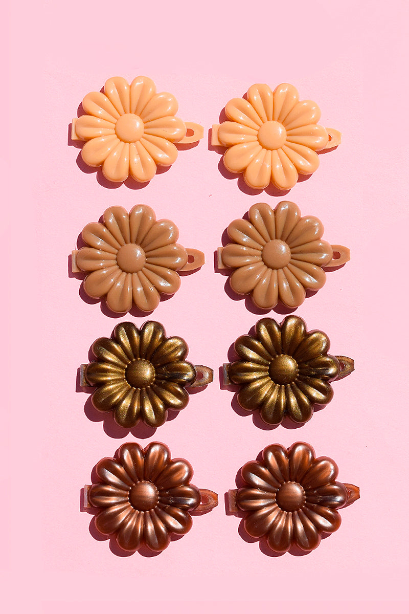 Cocoa Floral Hair Clips Set