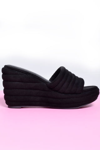 Cloud 9 Textured Slide Platforms - Black