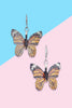 Monarch Butterfly Dangle Earrings