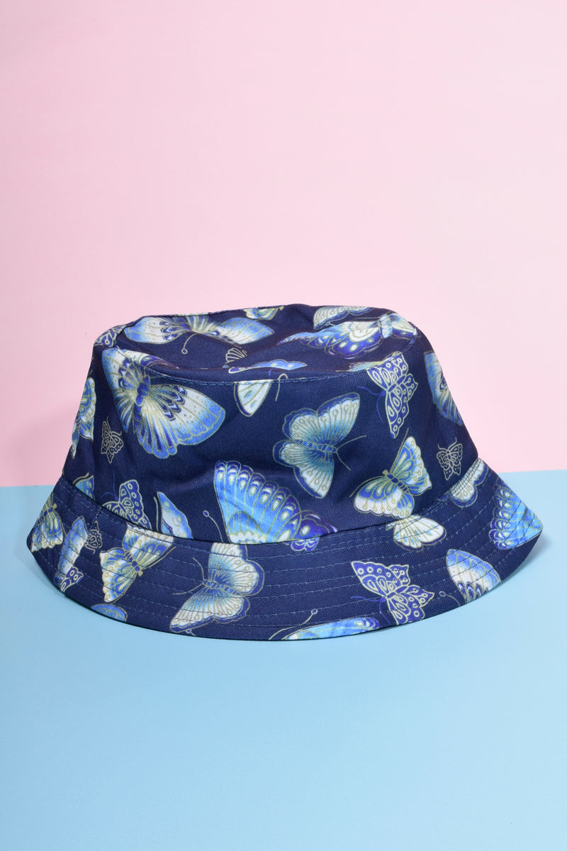 Reversible Deadstock Butterfly Bucket Hat