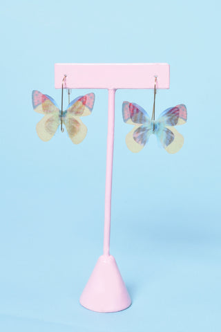 Light As a Butterfly Mesh Earrings