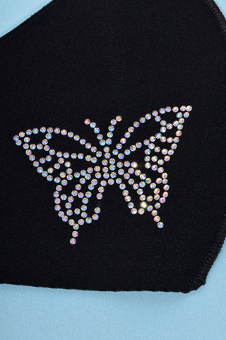 Rhinestone Butterfly Reusable Face Mask