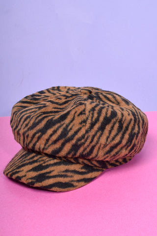 Gweneth Deadstock Furry Newsboy Cap