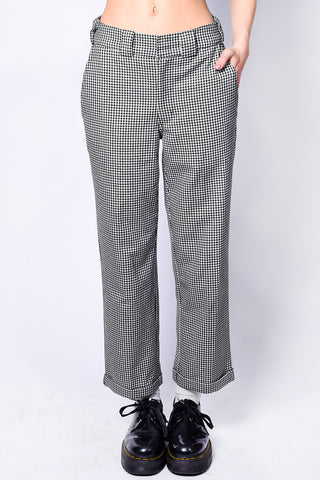 Checkered Rolled Hem Work Pant by Dickies Girl