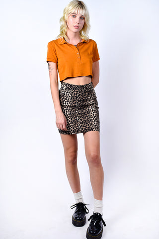 Deadstock Cheetah On You Mini Skirt